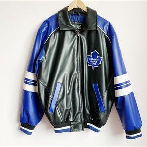 oversized toronto maple leafs bomber jacket (mens)